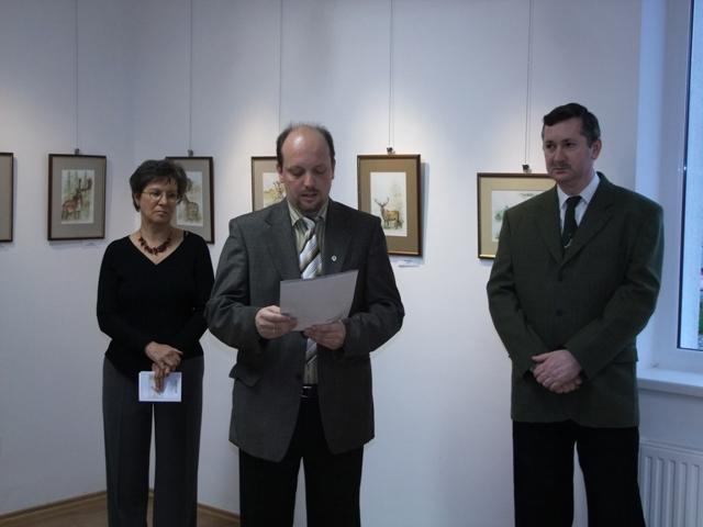Szarvas Pongrác kiállítása Tamásiban